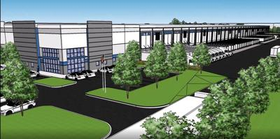 Preliminary rendering of proposed distribution facility jpg