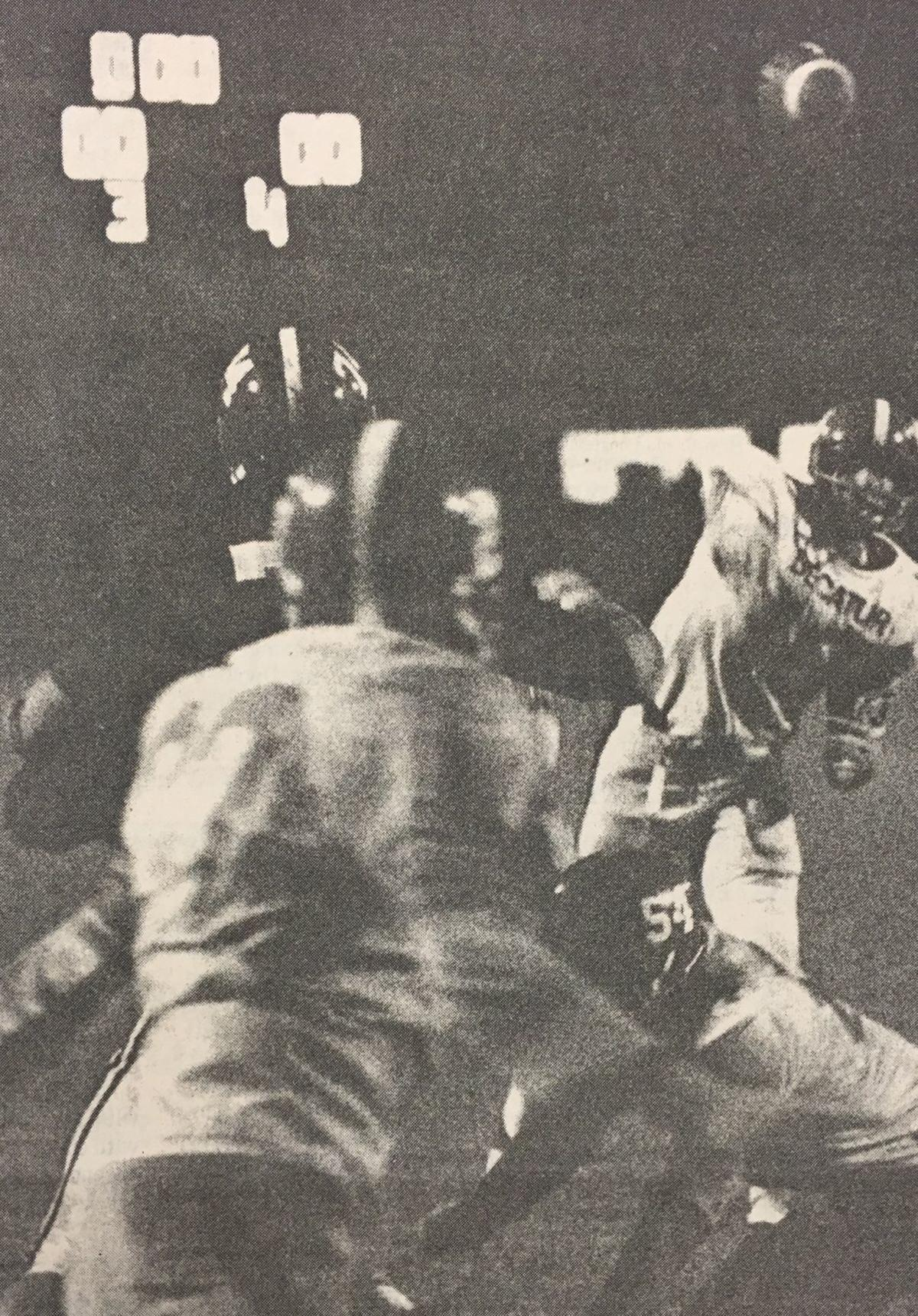 Benny Perrin touchdown pass against Hartselle
