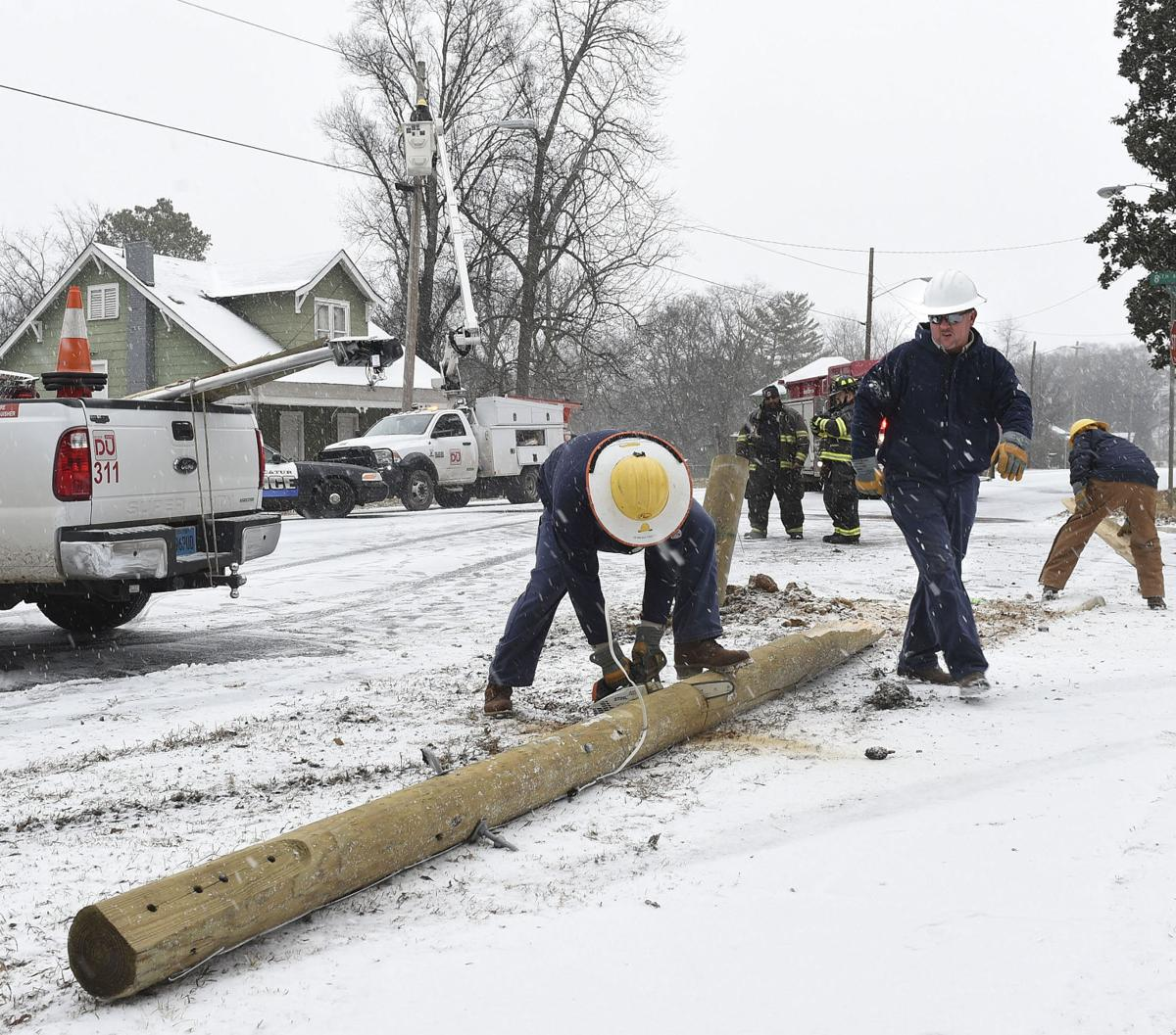 Area Gets Almost Inch Of Snow Bone Chilling Temperatures