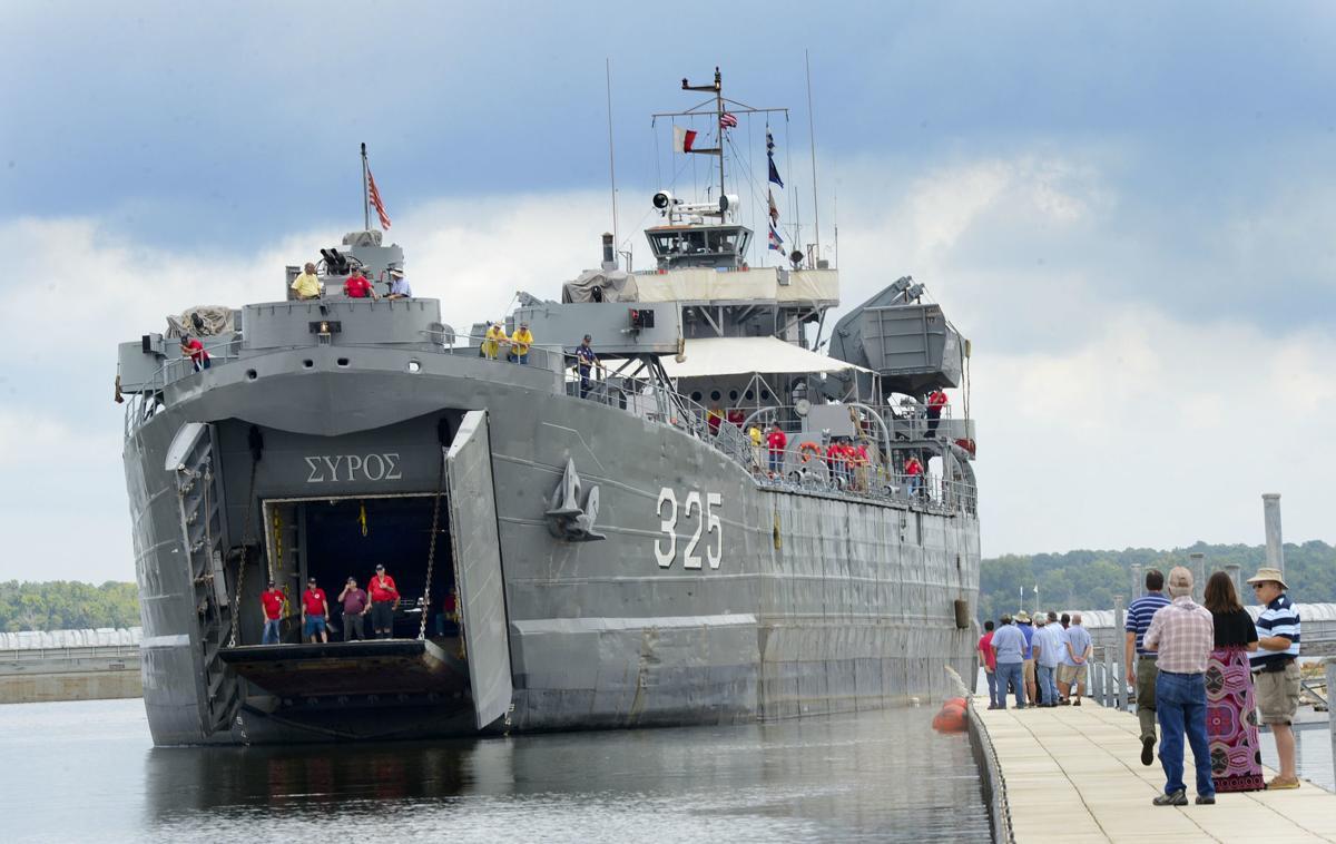 LST 325 docks