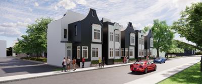 town homes artist rendering