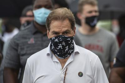 Virus Outbreak Alabama Saban Football