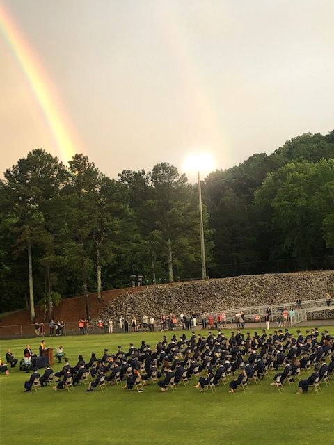 Brewer HS graduation rainbow