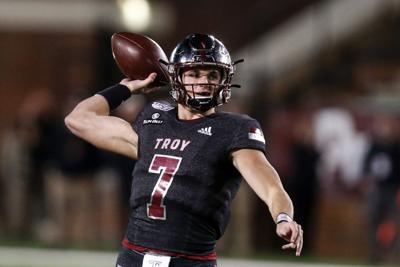 Kaleb Barker's final game at Troy