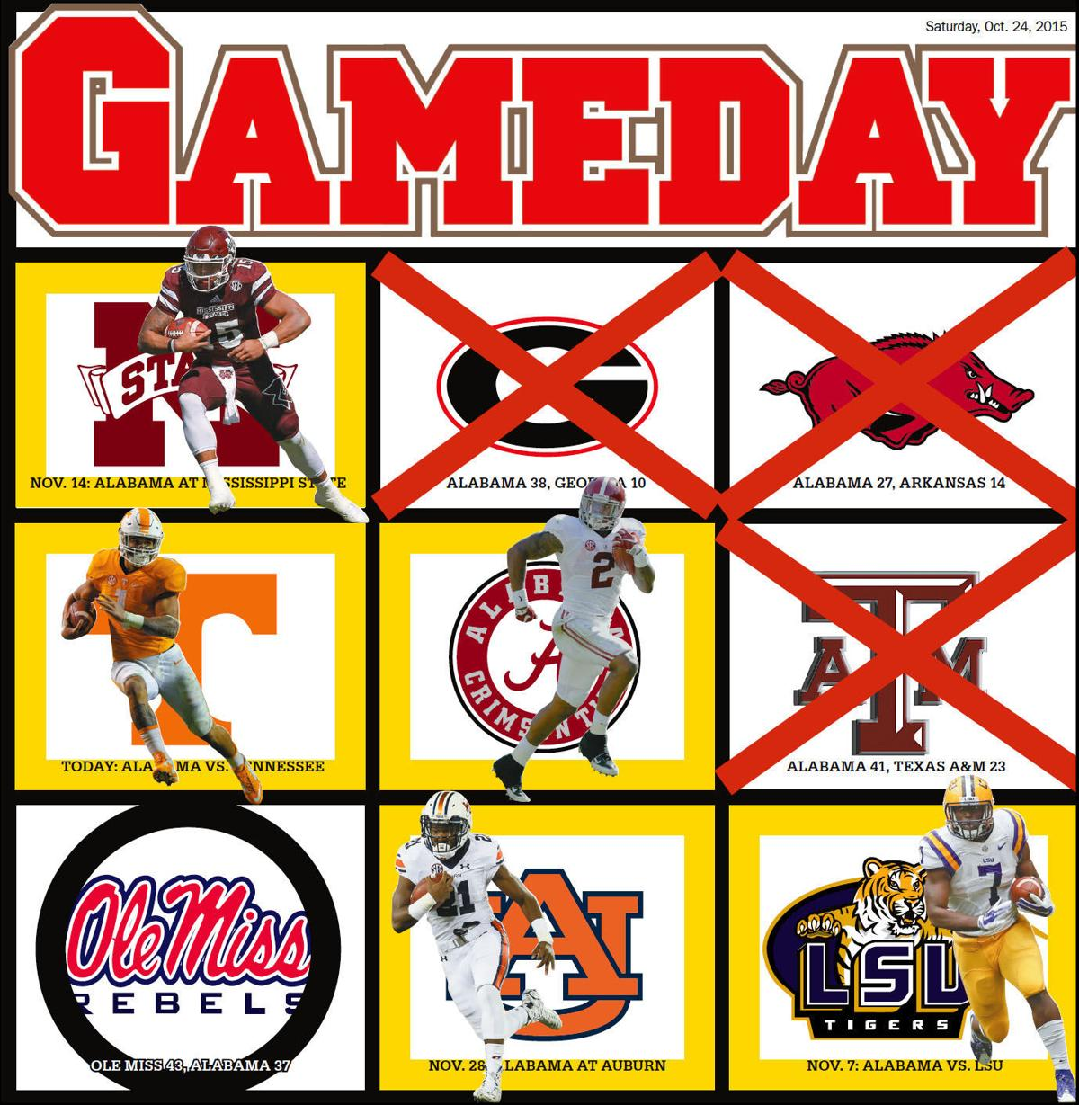 Ole miss gameday colors 2015 - Gameday Tide Will Be Left Out If Ole Miss Wins Out