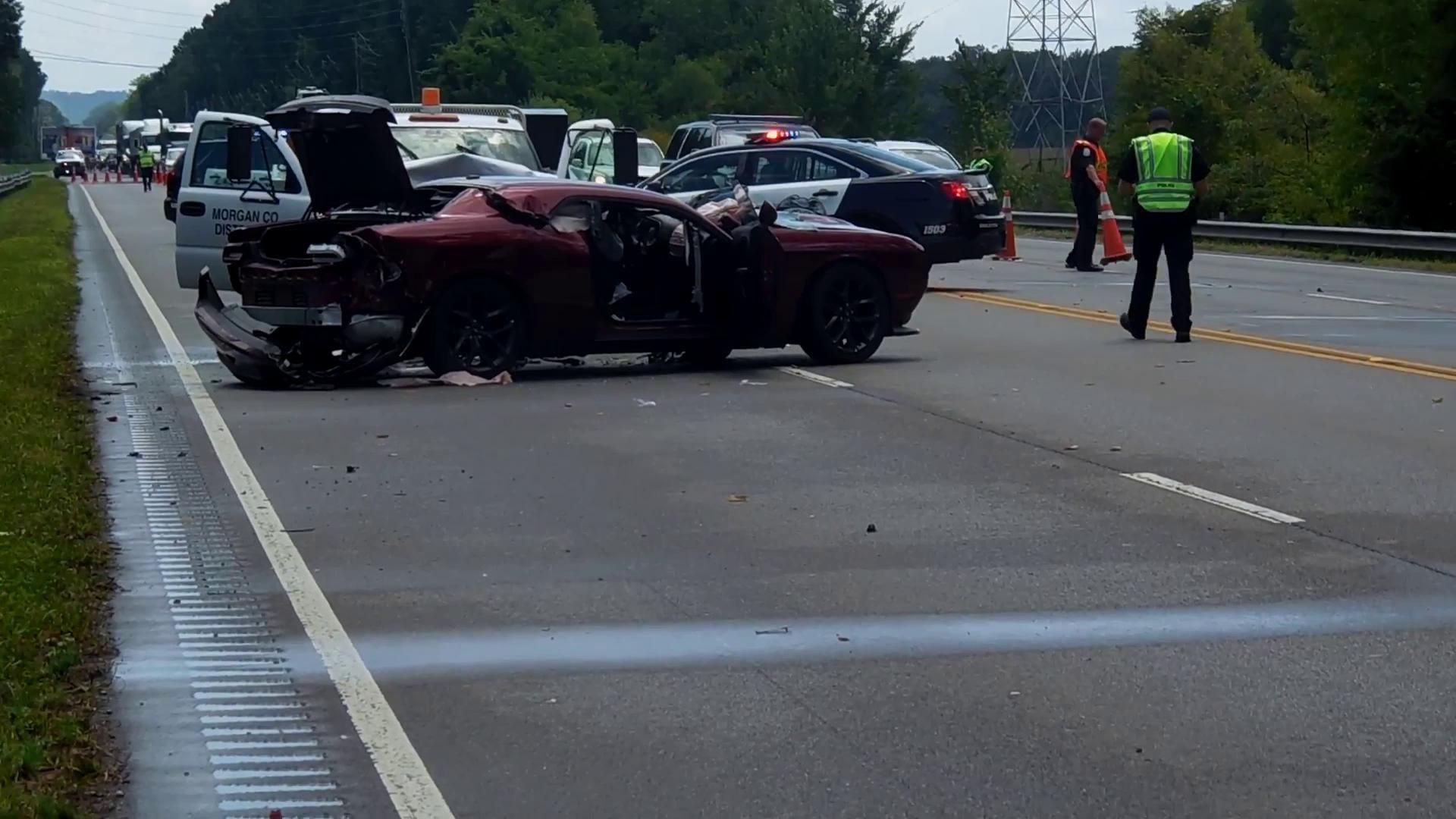 Scene from July 31, 2019, Point Mallard Parkway Accident