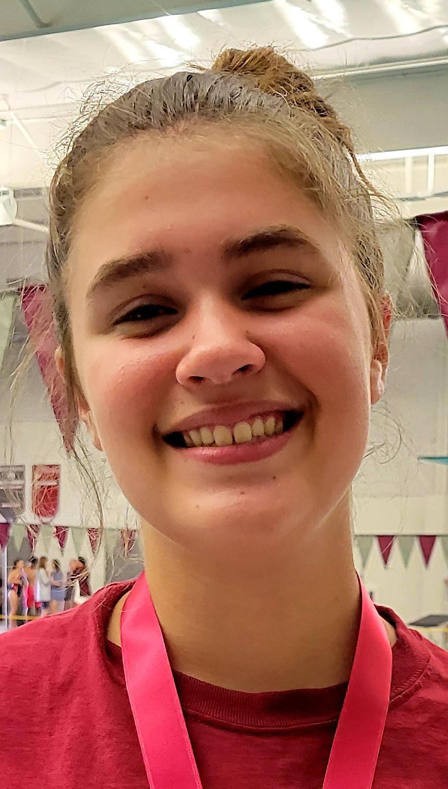 Swimmer Brinley Aldridge,