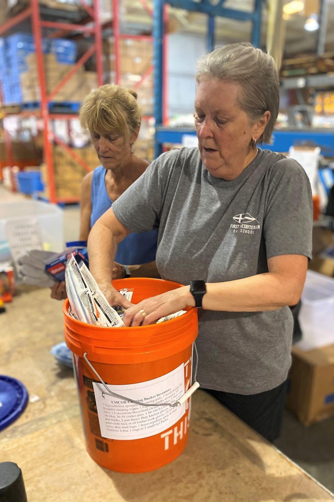 Two women volunteers