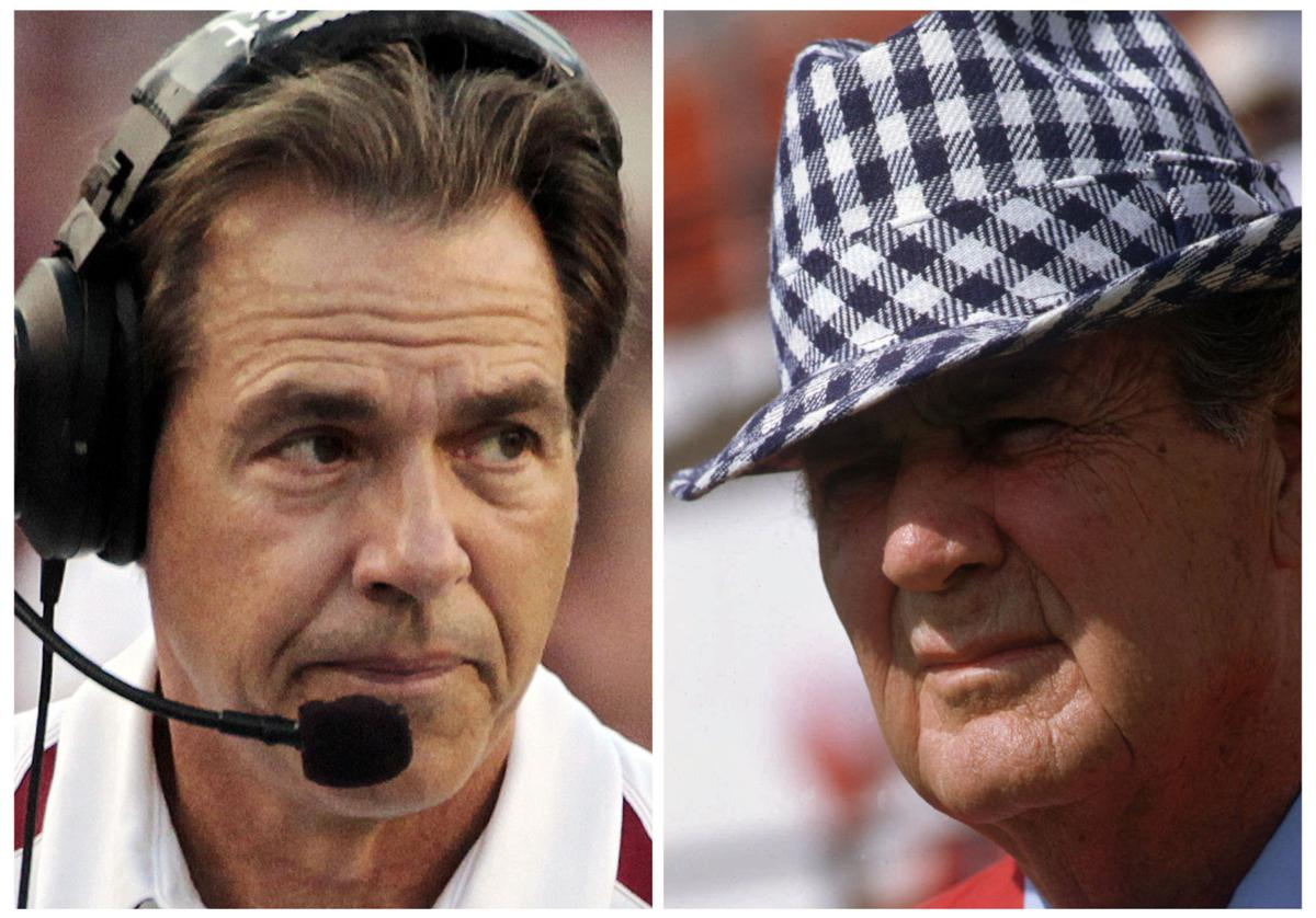 who s no 1 could saban supplant bryant as alabama s greatest