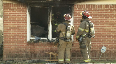 Fire Sparks in Greenville Home