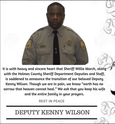 Holmes County Sheriff's Department Announces Death of Deputy