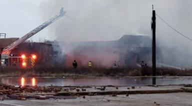 Fire Destroys Building in Greenville
