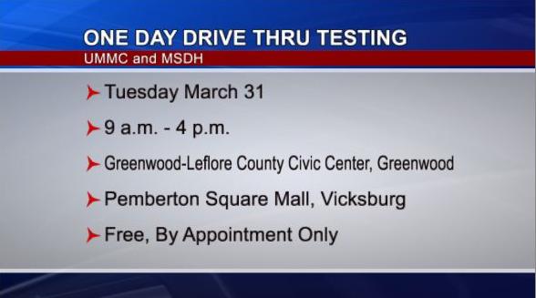 One Day Drive-Thru Covid-19 Testing