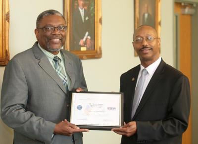 MVSU President Dr. Jerryl Briggs Recognized for His Support of Veteran Students
