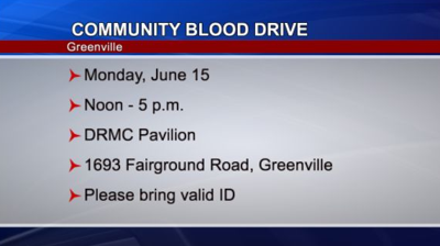 Greenville Community Blood Drive