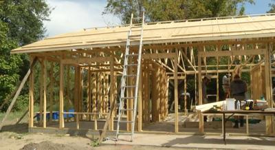 Volunteers Help Build House in Greenville