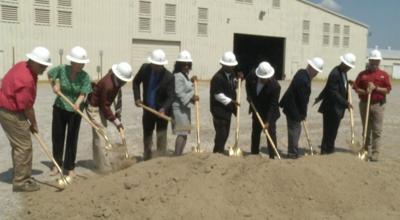 Groundbreaking at the Bolivar County Exposition Center