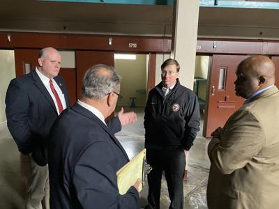 Governor Tate Reeves Visits Parchman