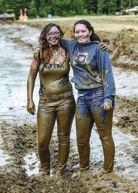 Muddy nude country girl