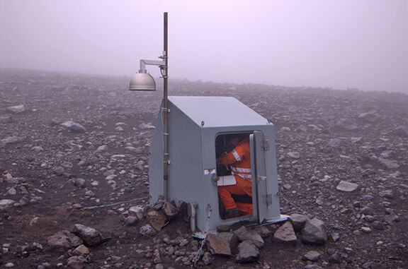 Guy Tytgat near Pavlof Volcano