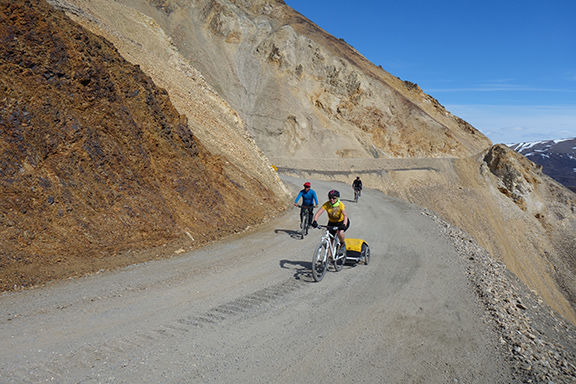 Cyclists on Denali Park Road