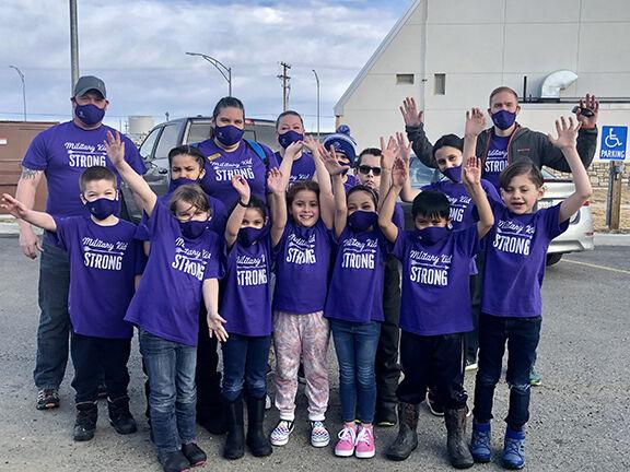 "Kids celebrate ""Purple Up Day"""