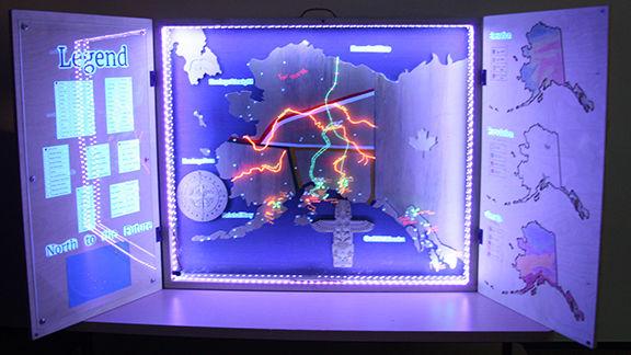 Black-light illumination display