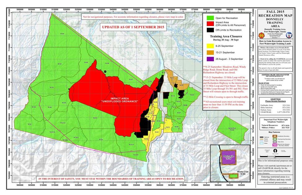 Fort Wainwright Releases New Maps For Hunting Areas Outdoors
