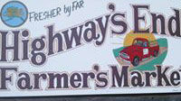 Highway's End Farmers Market Sign