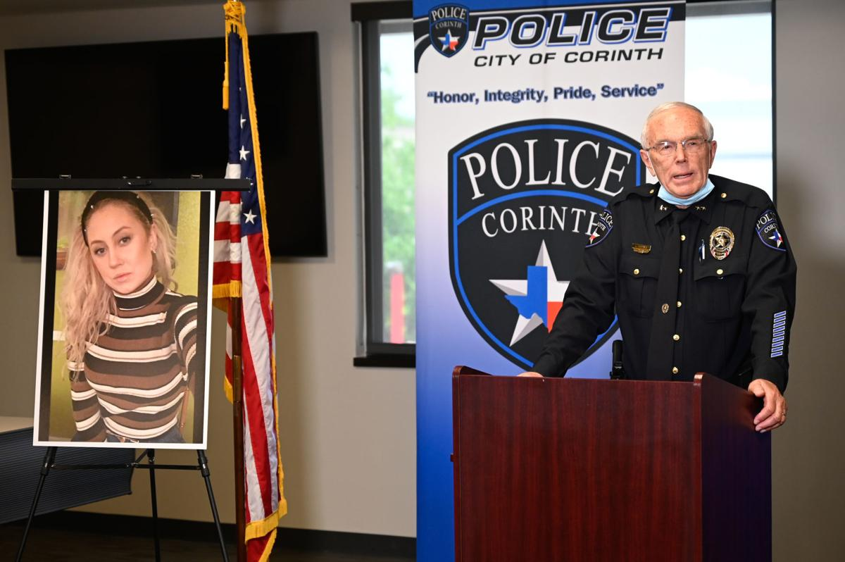 Corinth Police Department news conference