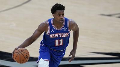 Knicks Spurs Basketball