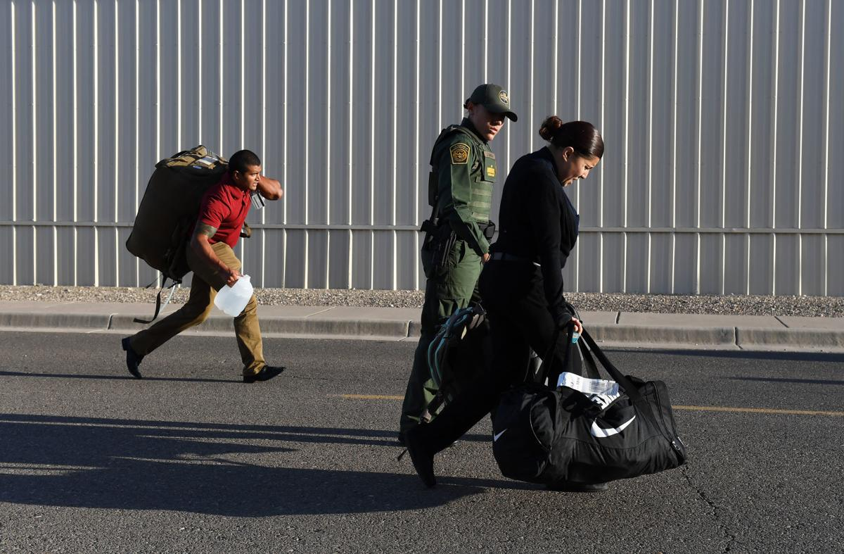 Border Patrol trainees prepare to enter one of the country's