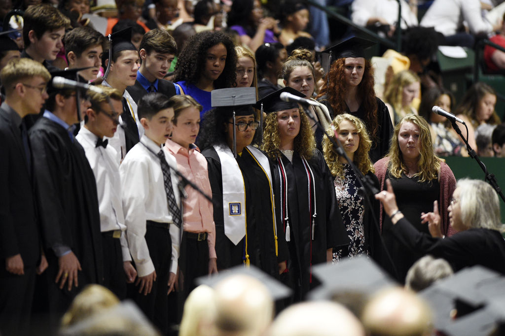John H. Guyer High School students walked the stage on Friday at the UNT Coliseum for their graduation commencement.