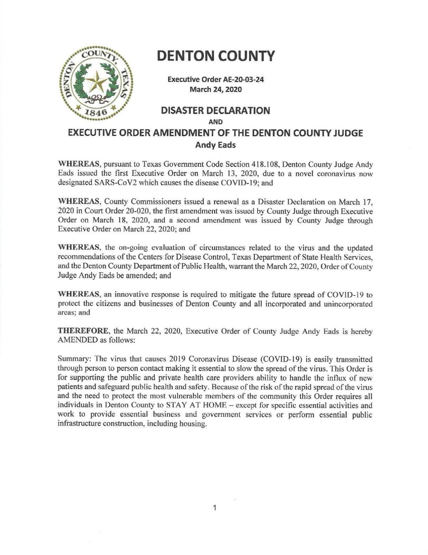 Governor's 3/31 Executive Order