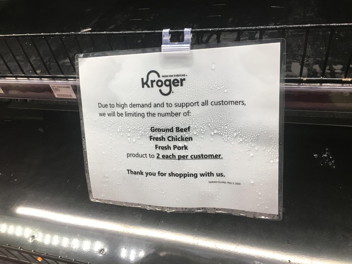 Kroger limits meat purchases