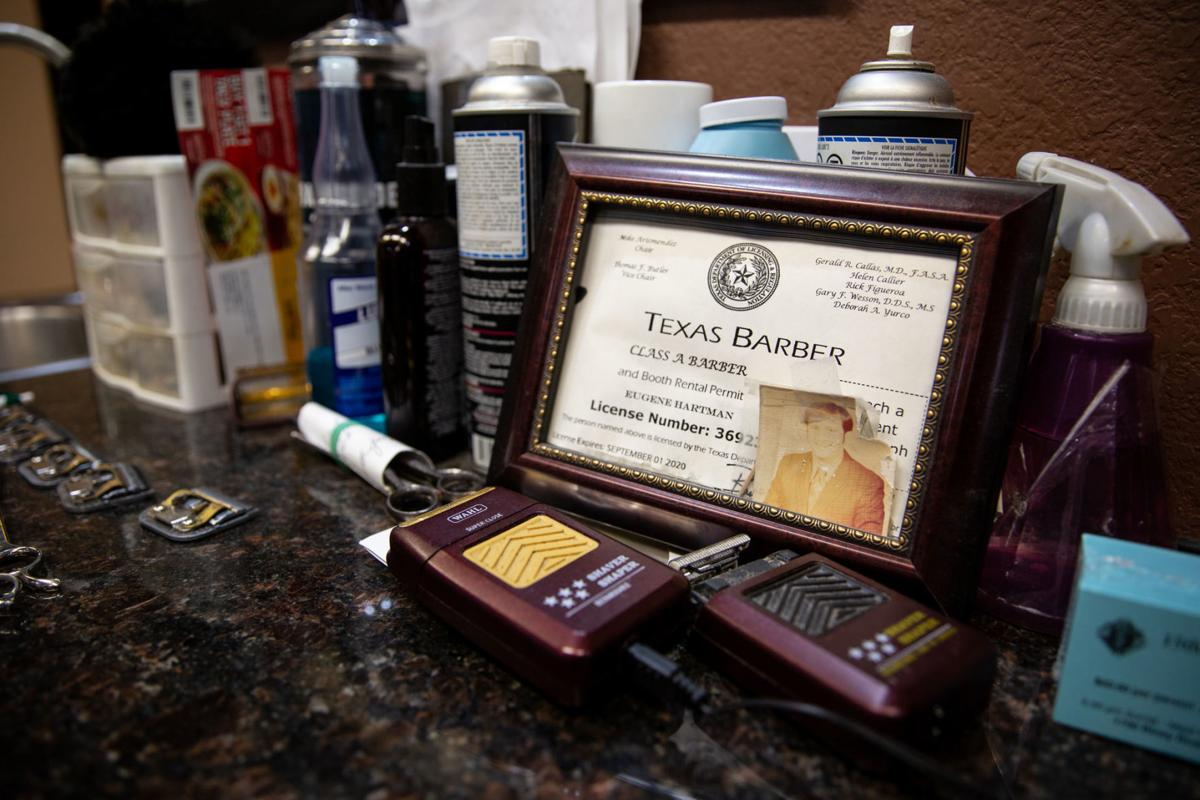 Barber license and tools