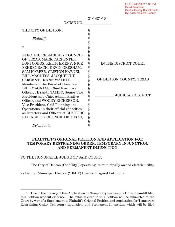 ERCOT lawsuit