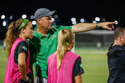 Unt Notebook Peters Has Mean Green Soccer Rolling Heading