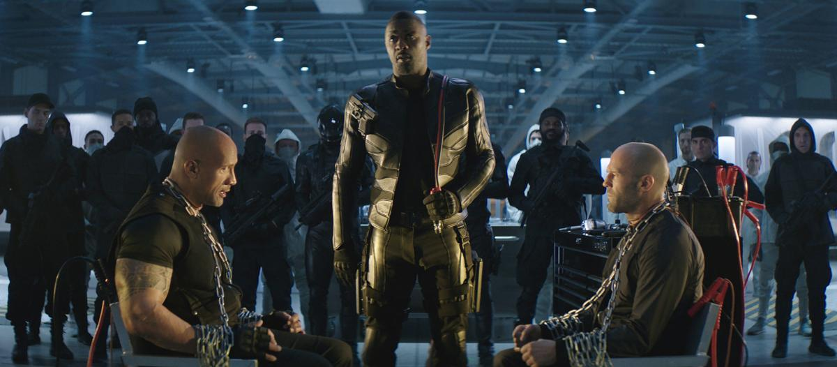 Dwayne Johnson, Idris Elba and Jason Statham