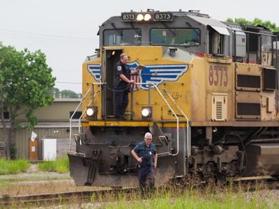 Freight train in Denton