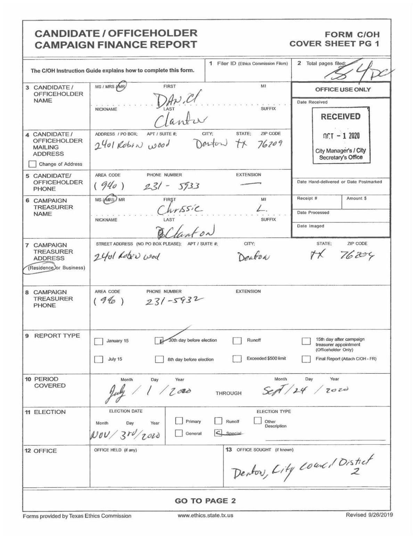 Daniel Clanton 30th Day Before General Election 2020.pdf