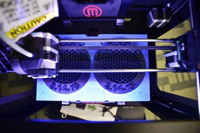 Denton Public Library's 3D printer