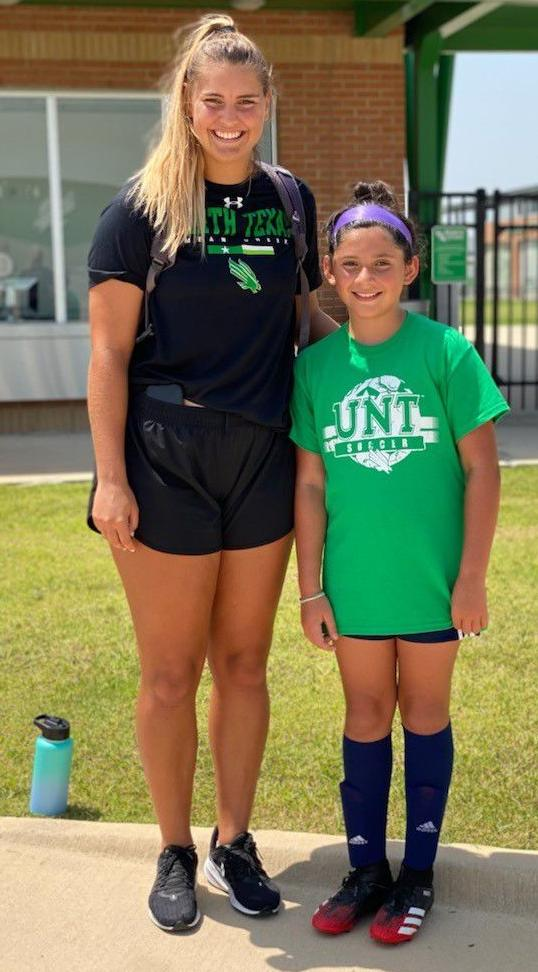 Fuller mentors young players at UNT soccer camp