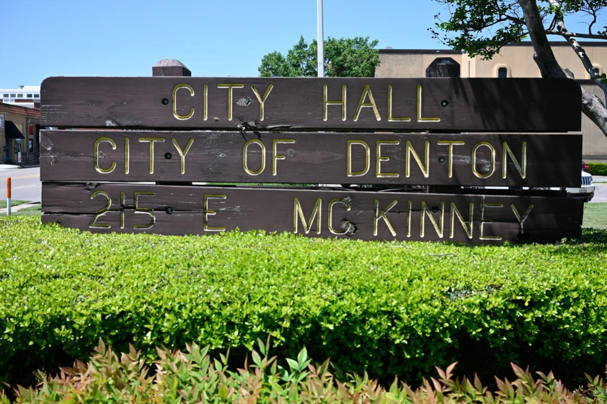Denton City Hall sign