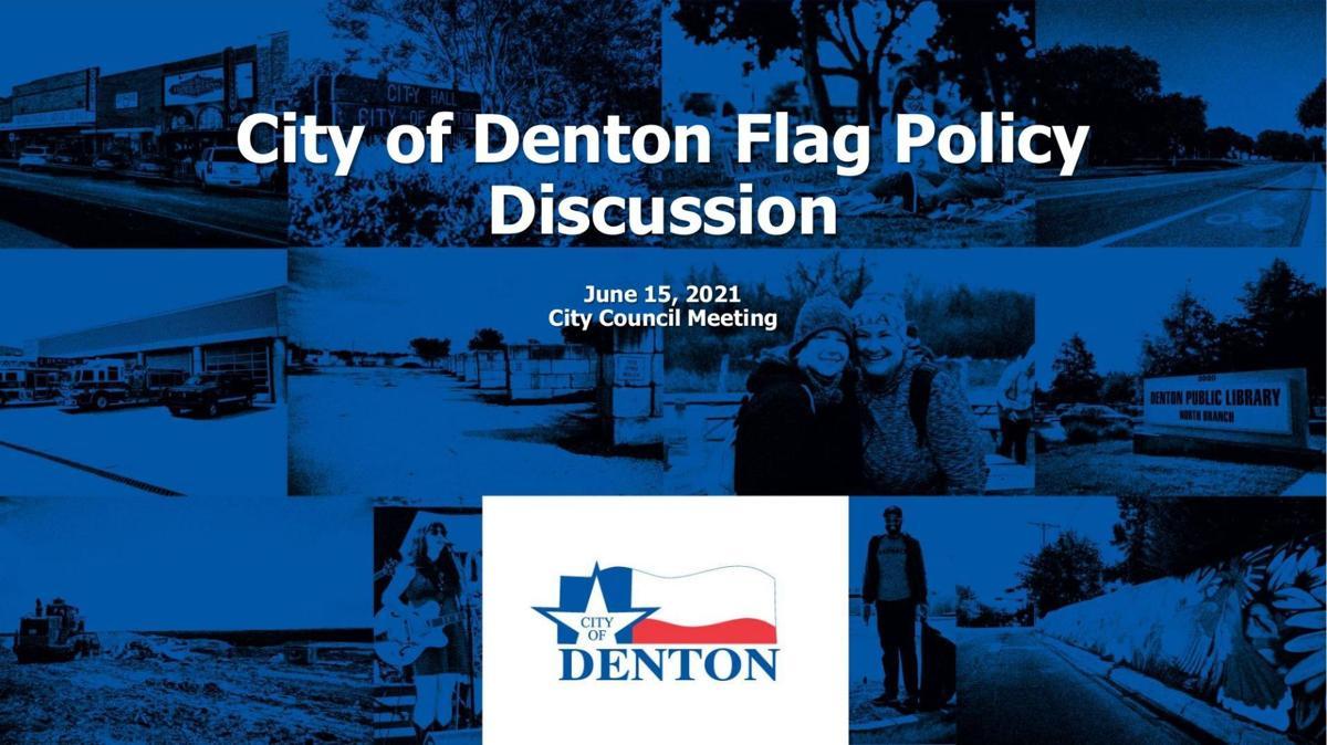 Denton flag presentation