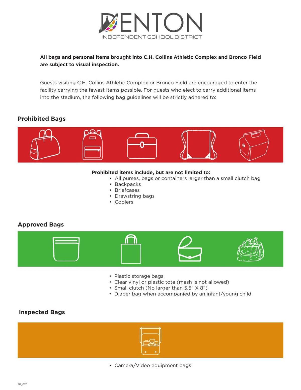Denton ISD clear bag policy