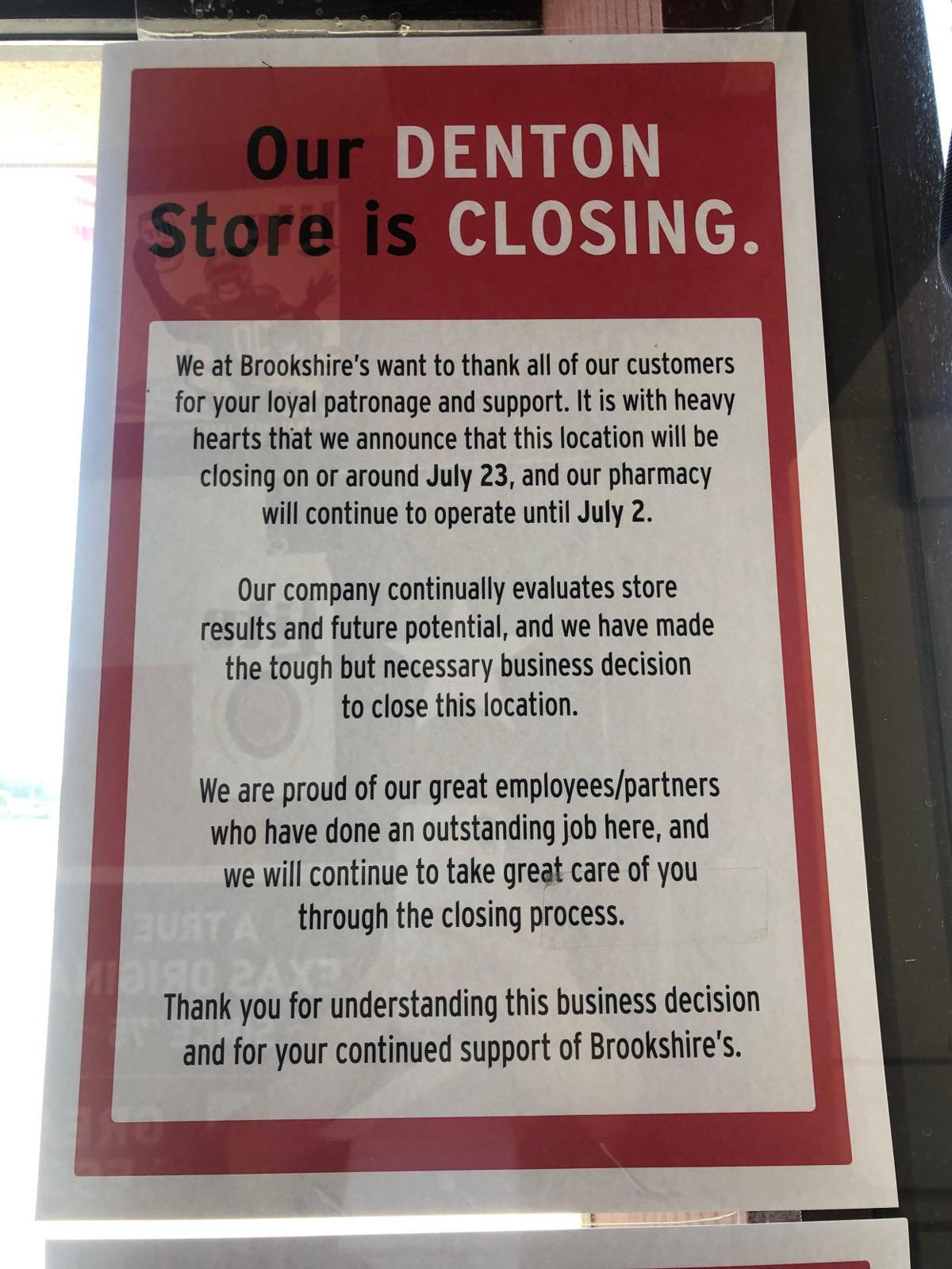 Brookshire's closing Denton location next month | News