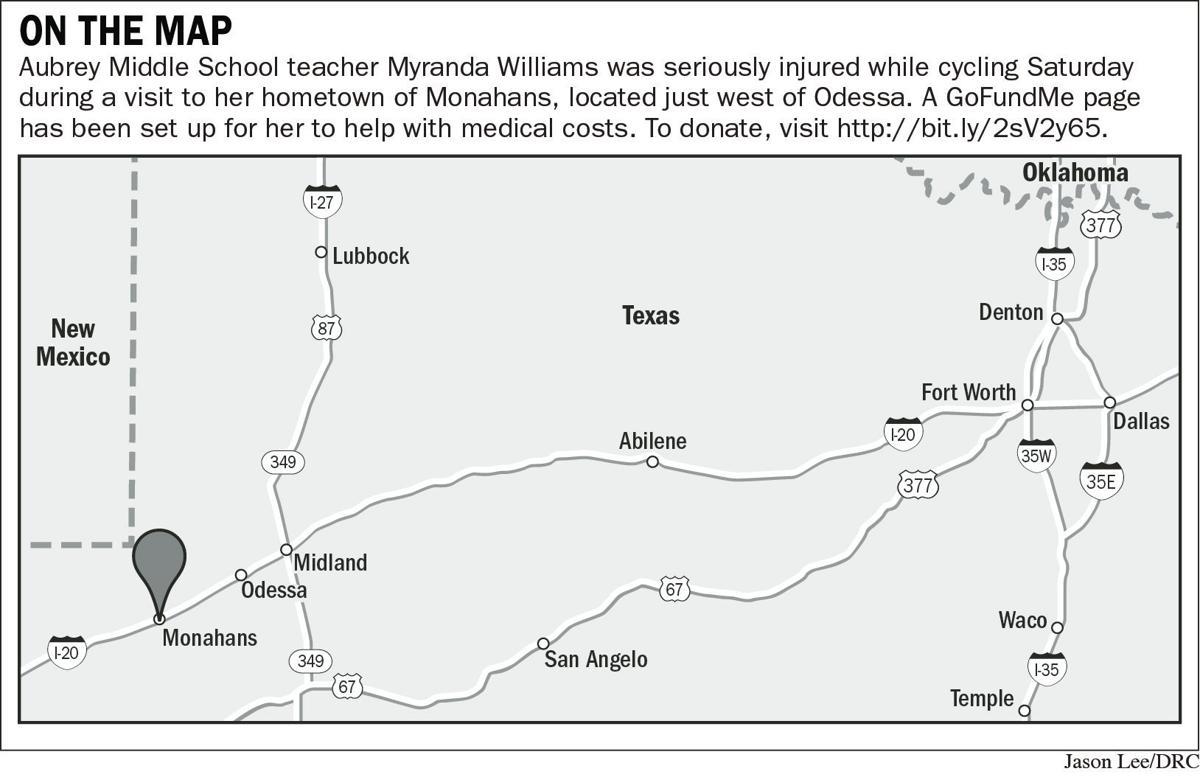 Community raises funds for injured Aubrey teacher's medical bills