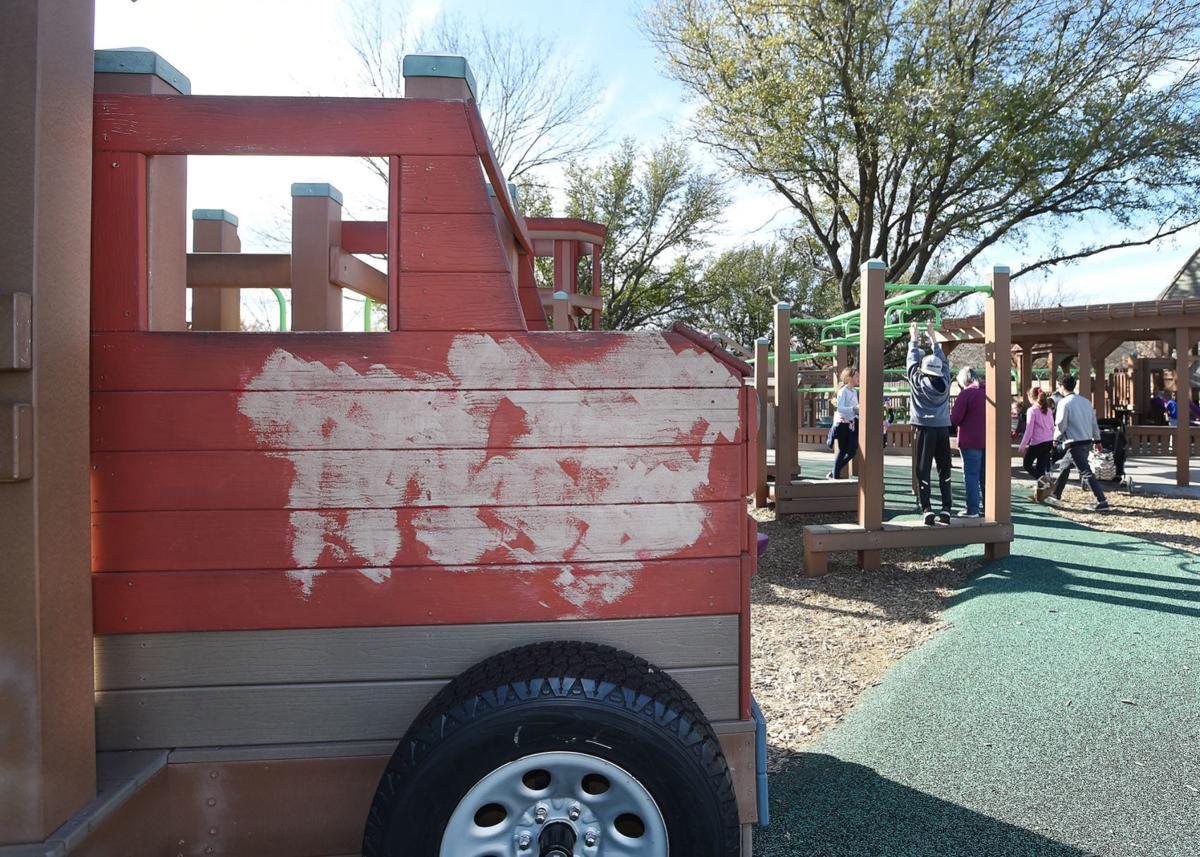Extensive graffiti found at Eureka Park | News | dentonrc.com
