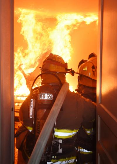 Fire training exercise (vertical)